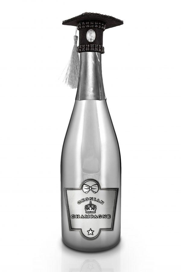 Oxonian Graduate Champagne Bottle Silver