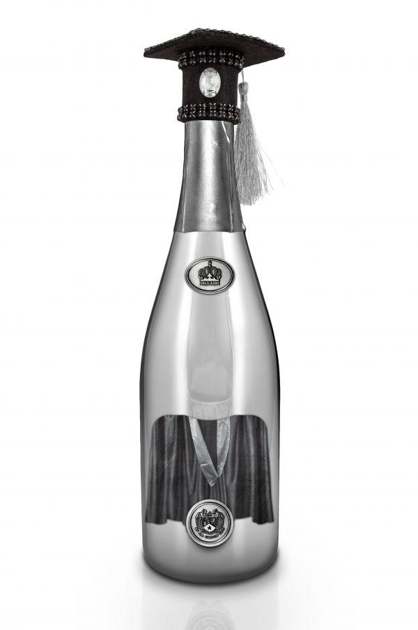 Oxonian Graduate Champagne Bottle Silver Back