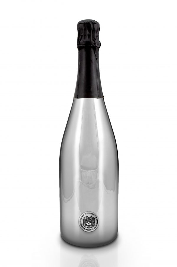 Oxonian Limited Edition Champagne Bottle Silver Back